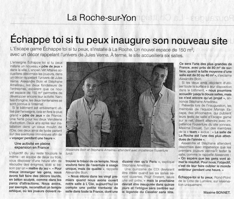 Article-Ouest-France-15-07-17-Escape-Game-Maniakescape